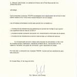 Carta de Recomendación Fenavin 2019